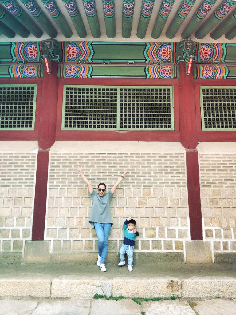 kyle and me in GYEONGBUKGUNG PALACE