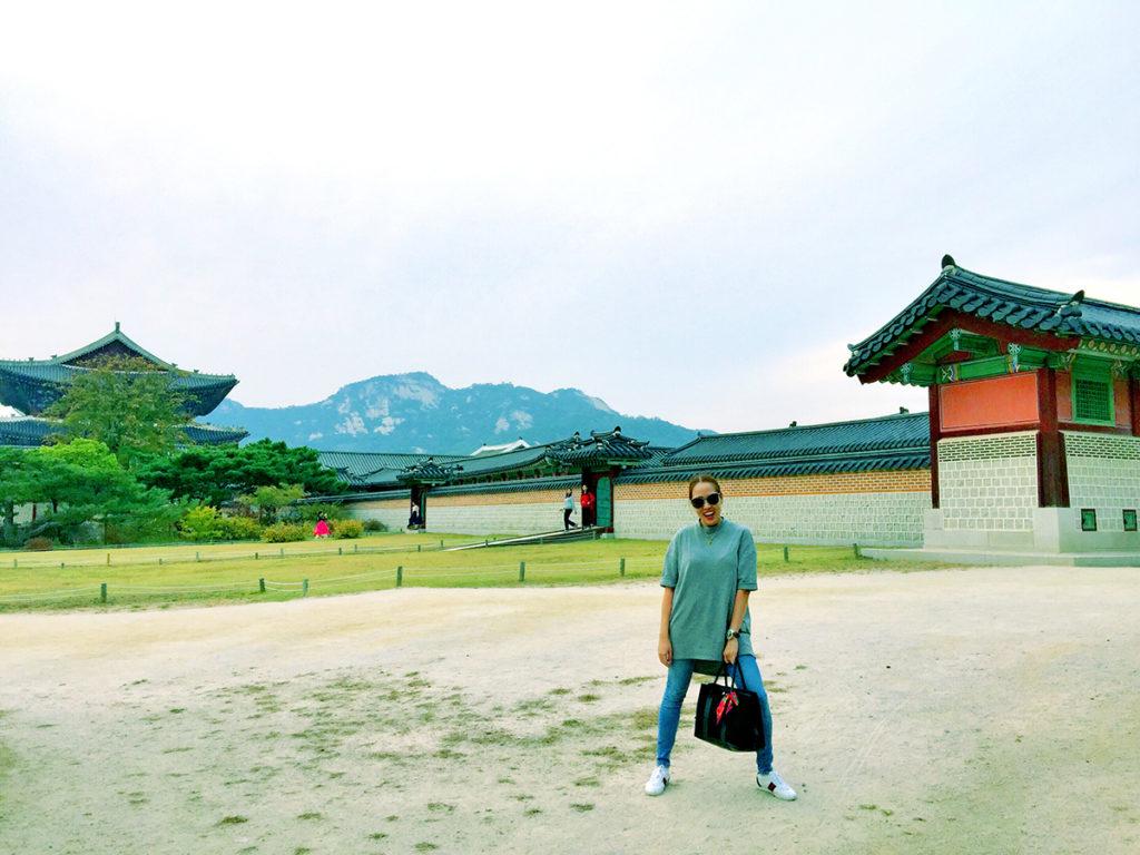 me in GYEONGBUKGUNG PALACE